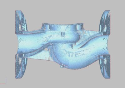 3D scannad ventil med Faro Armen